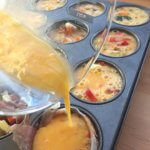 Scrambled breakfast egg muffins