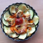 Tart with zucchini, tomato and paprika